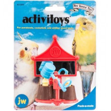 Игрушка д/птиц - Зеркальце с вращающейся погремушкой-молотком, пластик <br />Activitoy peck a mole