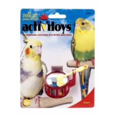 Игрушка д/птиц - Барабан, пластик <br />Activitoy Drum