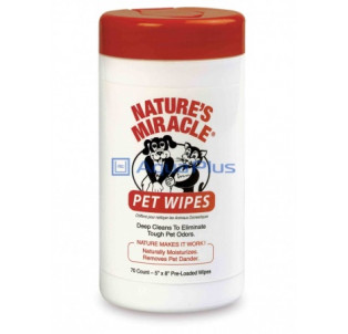 Влажные очищающие салфетки, для собак и кошек 70 шт NM PET WIPES