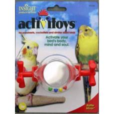 Игрушка д/птиц - Вращающееся зеркальце - погремушка, пластик, Activitoys Rattle Mirror