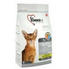 1st Choice Cat Hypoallergenic сухой беззерновой гипоаллергенный корм для кошек, Утка с картошой