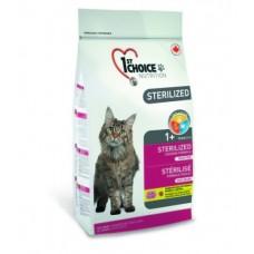 1st Choice Cat Sterilized сухой беззерновой корм для кастрированных и стерилизованных кошек , Курица с бататом