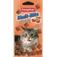 Beaphar Malt-Bits Подушечки для кошек с мальт-пастой для вывода шерсти из желудка с Лососем