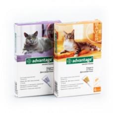 Bayer Адвантейж капли для кошек более 4 кг от блох, 4 пипетки
