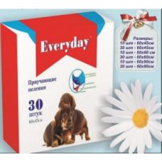 Everyday пеленки для животных впитывающие, гелевые 60 х 90 см.