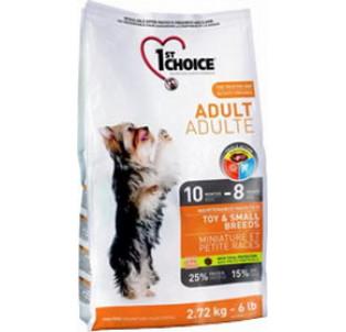 1st Choice Adult Toy & Small Breeds-сухой корм для взрослых собак миниатюрных и малых пород, курица