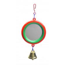 Зеркало с колокольчиком для попугая