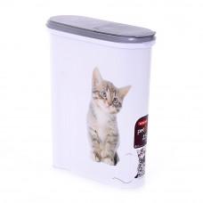 """Контейнер для корма """"Кошка"""" на 1,5 кг, 25 х 10 х 30 см"""