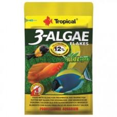 Tropical 3-Algae Flakes 12гр - корм с водорослями для пресноводных и морских рыб (хлопья)