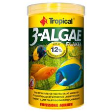 Tropical 3-Algae Flakes 100мл/20гр - корм с водорослями для пресноводных и морских рыб (хлопья)