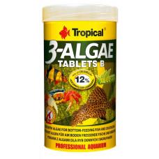 Tropical 3-Algae Tablets В 250мл/150гр/830таб. - корм с водорослями для пресн. и мор. рыб (тонущие таб.)