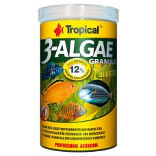 Tropical 3-Algae Granulat 250мл/110гр - корм с водорослями для пресноводных и морских рыб (гранулы)