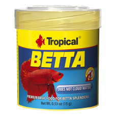 Tropical Betta 100мл/25гр - основной корм для петушков с крилем и мотылем