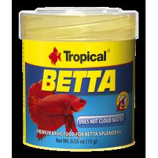 Tropical Betta 50мл/15гр - основной корм для петушков с крилем и мотылем