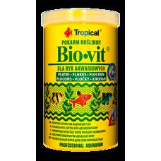 Tropical Bio-vit 100мл/20гр. растительный корм для аквариумных рыб (хлопья)
