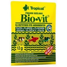 Tropical Bio-vit 12гр. растительный корм для аквариумных рыб (хлопья)
